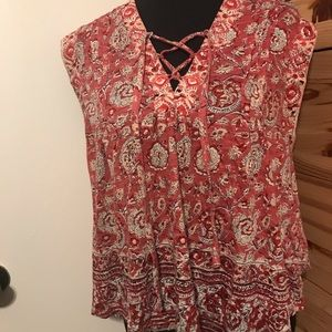 LUCKY BRAND floral patterned blouse